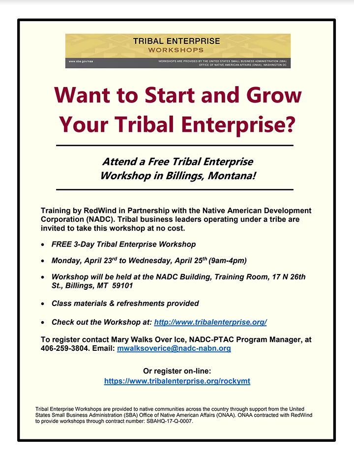 What to Start and Grow Your Tribal Enterprise? (web)